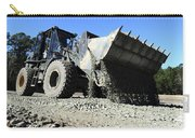 A Front End Loader Raising A Road Bed Carry-all Pouch
