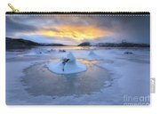 A Frozen Fjord That Is Part Carry-all Pouch by Arild Heitmann