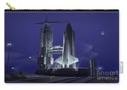 A Futuristic Space Shuttle Awaits Carry-all Pouch by Walter Myers