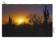 A Golden Saguaro Sunrise Carry-all Pouch