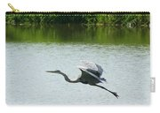 A Great Blue Heron Landing Carry-all Pouch