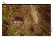 A Greenfinch At Its Nest Carry-all Pouch
