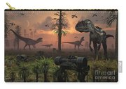 A Herd Of Allosaurus Dinosaur Cause Carry-all Pouch