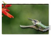 A Hummingbird With Dimension Carry-all Pouch