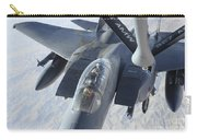 A Kc-135 Stratotanker Refuels An F-15e Carry-all Pouch by Stocktrek Images