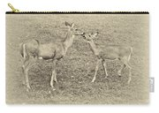 A Kiss For Mom Sepia Carry-all Pouch