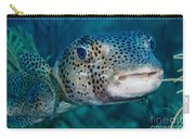 A Large Spotted Pufferfish Carry-all Pouch