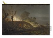 A Lime Kiln At Coalbrookdale Carry-all Pouch by Joseph Mallord William Turner
