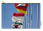 A Line Of Flags Represent The Countries Carry-all Pouch