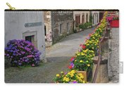A Line Of Flowers In A French Village Carry-all Pouch