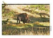 A Lone Bison In Yellowstone 9467 Carry-all Pouch