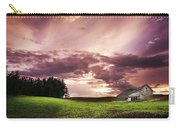 A Lonely Farm Building In An Open Field Carry-all Pouch