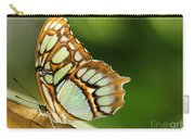 A Malachite Butterfly Carry-all Pouch