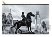 A Man A Horse And A City Carry-all Pouch
