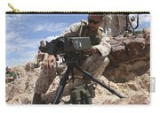 A Marine Sets Up A Laser Designator Carry-all Pouch by Stocktrek Images