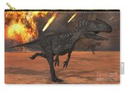 A Pair Of Allosaurus Dinosaurs Running Carry-all Pouch