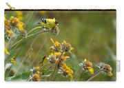 A Pair Of Goldfinches In Spokane Carry-all Pouch