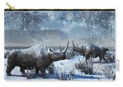 A Pair Of Woolly Rhinoceros In A Severe Carry-all Pouch