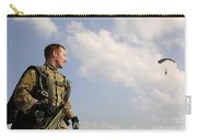 A Paratrooper Looks On As Other Carry-all Pouch