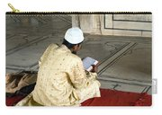 A Pious Devotee Reading The Quran Inside The Jama Masjid In Delhi Carry-all Pouch