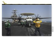 A Plane Director Guides An E-2c Hawkeye Carry-all Pouch
