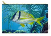 A Porkfish Swims By Sea Plumes Carry-all Pouch by Terry Moore