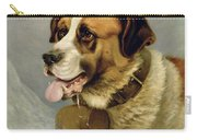 A Portrait Of A St. Bernard Carry-all Pouch