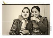 A Portrait Of Good Friends Carry-all Pouch