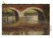 A River Landscape With A Bridge  Carry-all Pouch