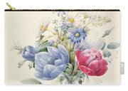 A Rose Anemone Mignonette And Daisies Carry-all Pouch