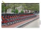 A Row Of Red Bikes Carry-all Pouch