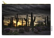 A Saguaro Sunrise  Carry-all Pouch