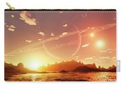 A Scene On A Distant Moon Orbiting Carry-all Pouch