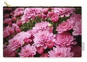 A Sea Of Pink Chrysanthemums Carry-all Pouch