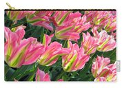 A Sea Of Pink Tulips. Square Format Carry-all Pouch