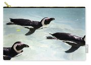 A Small Squadron Of Swimming Penguins Carry-all Pouch
