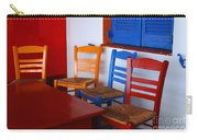 Colorful Table And Chairs Greece Carry-all Pouch
