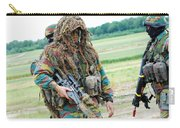 A Sniper Of The Belgian Army Together Carry-all Pouch