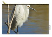 A Snowy Egret  Carry-all Pouch