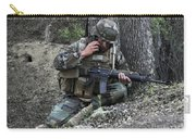 A Soldier Communicates His Position Carry-all Pouch