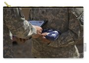 A Soldier Is Presented The American Carry-all Pouch