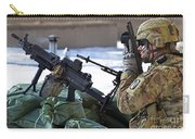 A Soldier Keeps A Close Watch Carry-all Pouch