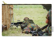 A Soldier Of The Belgian Army On Guard Carry-all Pouch by Luc De Jaeger