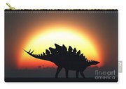 A Stegosaurus Silhouetted Carry-all Pouch