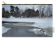 A Stream In Ice Carry-all Pouch