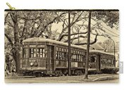 A Streetcar Named St. Charles Sepia Carry-all Pouch