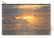 A Sunset A Poem - Victor Hugo Carry-all Pouch