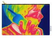 A Thermogram Of A Boy Talking Carry-all Pouch