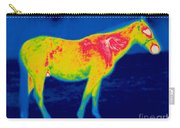 A Thermogram Of A Horse Carry-all Pouch