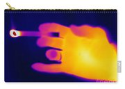 A Thermogram Of A Lit Cigarette Carry-all Pouch by Ted Kinsman